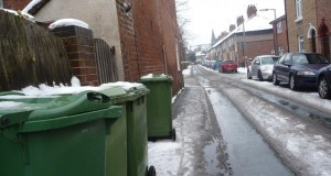 Winter wheelie bins
