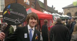 A young entrepreneur at the 2011 trade fair in Stone