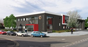 An artist's impression of one of the new community fire stations