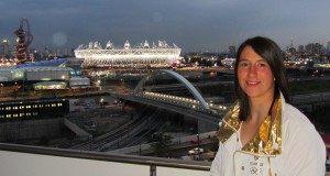 Lizzie Neave at the Olympic Stadium during London 2012