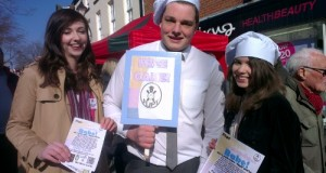 Members of Flipt drum up support in the High Street in 2013