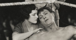 Billy Wells was the heavyweight champion of Britain when he starred as a boxer in a silent movie that was filmed in Stone in 1916. This still is from a later film starring Wells, The Ring from 1926. Photo credit: British Film Institute (click photo for more information)