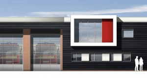 An artist's impression of Stone's new community fire station