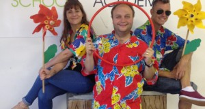 Holiday Club teachers Kit Henson, Nick Earnshaw and Rob Lewis get into the mood for summer
