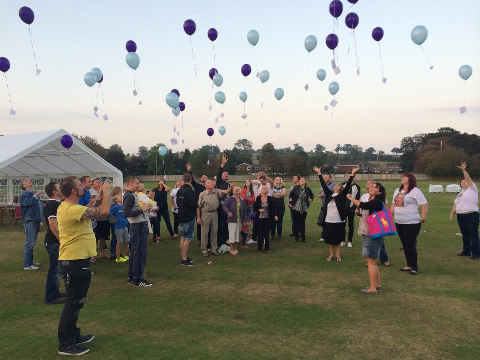 Balloons were released in memory of the three young people who tragically lost their lives this year