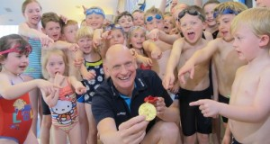 Duncan Goodhew visited the club in 2012