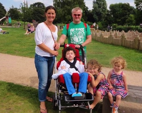 Amanda and Ian Harrison with James, Ruby and Isabelle