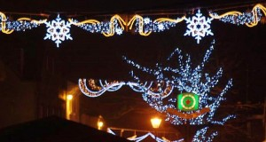 Some of the Christmas lights in the town on switch-on night