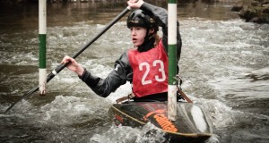 Shannon Judge in action during the mini slalom series