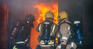 Crews carrying out fire behaviour training