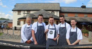 Aston Marina's award-winning chefs: Earnie Totton, Andy Stewart, Tom Harrison, Jack Newport and Andy Pickstock