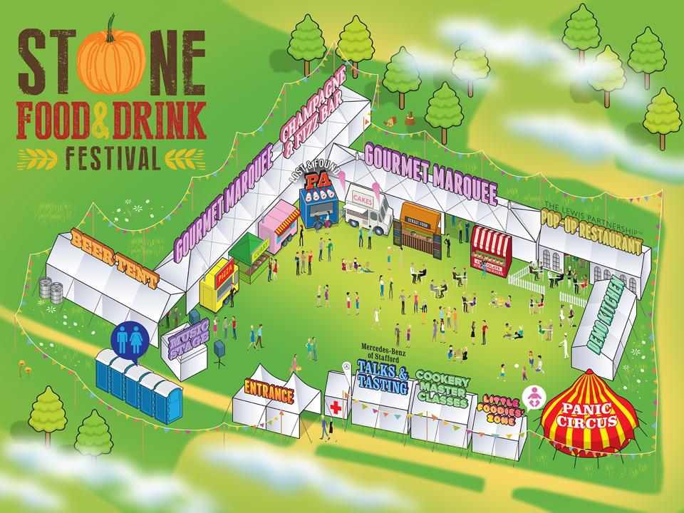 Stone Food and Drink Festival site plan
