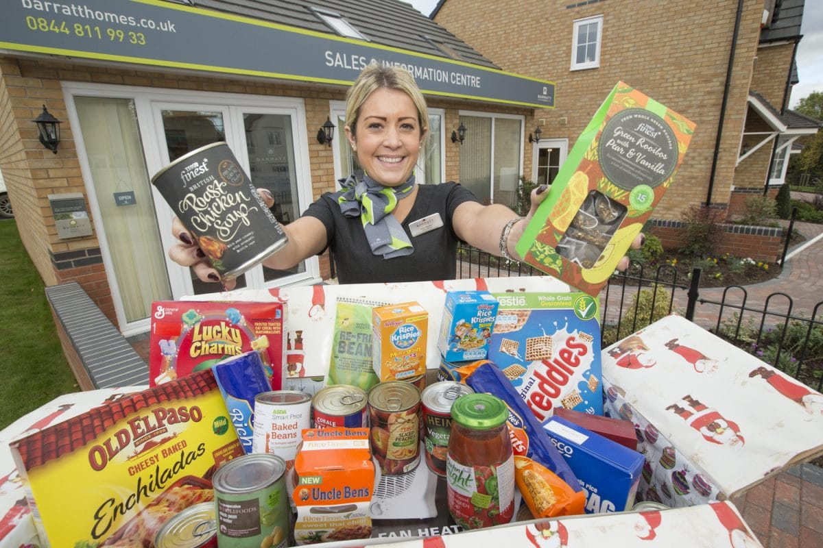 Barratt Homes Sets Up Foodbank Collection Point In Yarnfield A