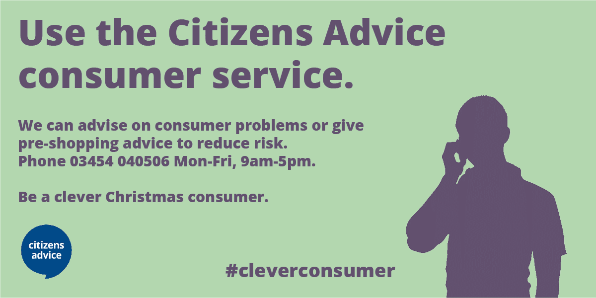 Be A Clever Consumer This Christmas Says Citizens Advice