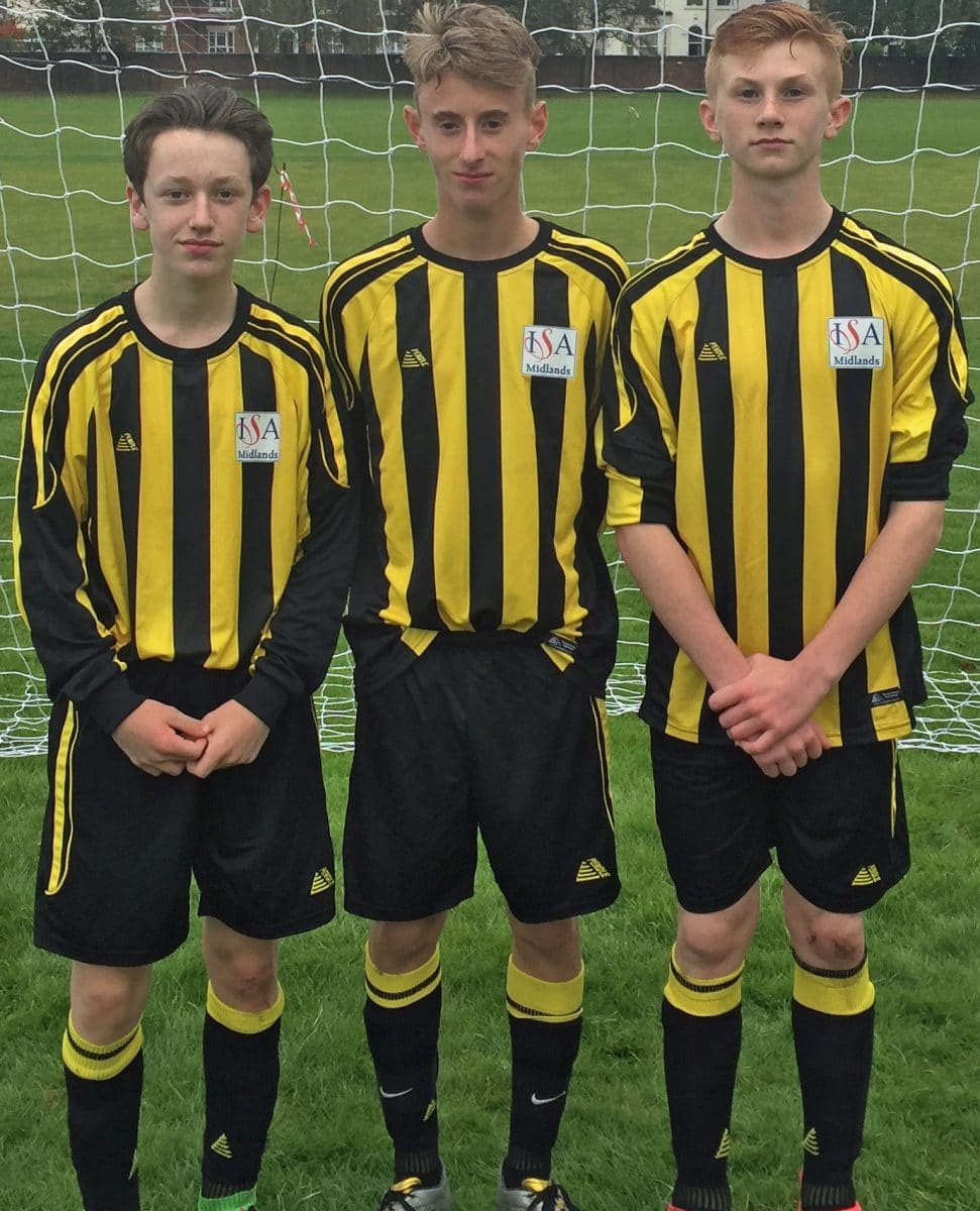 Stone Hammers midfielder Matt Jones (pictured left) and fellow Stafford Grammar School pupils Josh Moody and Ben Gardner earned ISA regional call-ups after impressing at a football tournament in Nottingham